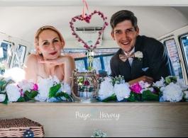 Splitscreen Campervan for weddings in Farnham